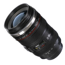 Caniam Canon EF 24-105mm DSLR Camera Lens Thermos Cup Cola Coffee Mug Blue lid
