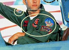 FANCY DRESS HALLOWEEN COSTUME MOVIE PROP: Top Gun USN Flight Suit 5-Insignia Set