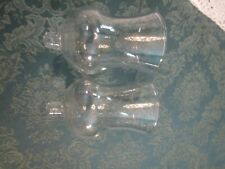 Home Interior/Homco Set Of 2 Clear Traditional Votive Cups/ Candle Holders