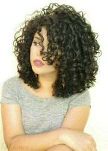 Hot Top Wig New Fashion Glamour Women's Medium Natural Dark Brown Curly Full Wig