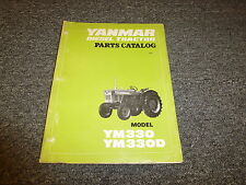 Yanmar Ym330 Ym330D Diesel Compact Utility Tractor Parts Catalog Manual