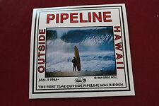 Original Vintage Greg Noll Pipeline 1964 Vinyl 5X5in Da Bull 1980'S Sticker