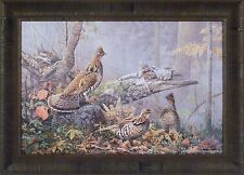 """""""FALL GATHERING"""" by Scott Zoellick 20x28 FRAMED PRINT S/N L/E Grouse Autumn"""