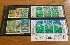 Guyana Stamps - Mostly Mint - 1968 to 1973