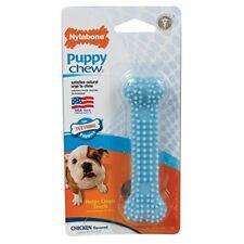 Nylabone Puppy Teething Chew Textured Bone Chicken Blue Xsmall