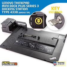 Lenovo ThinkPad Mini Docking Station Plus Series 3 4338 with Key W530 W520 W510