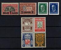 128270 / ESTONIA / Y&T # 110 – 111 - 140A - 142A - 154 / 157 MH* CV 190 $