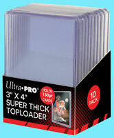 10 Ultra Pro 180pt TOPLOADERS 3x4 Top Loader Super Thick NEW FREE SHIP!