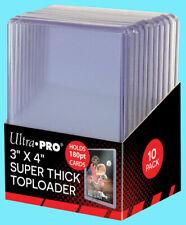 50 Ultra Pro 180pt TOPLOADERS 3x4 Five Packs of Ten Top Loader Super Thick NEW