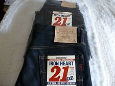 NEW Mens IRON HEART JEANS IH 634 MADE IN JAPAN 33 x 34 REG Straight 21 OZ DENIM