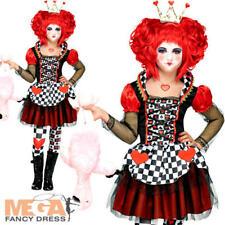 Queen of Hearts Girls Fancy Dress Fairy Tale Book Day Week Kids Children Costume