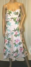 MOTHER BRIDE DRESS SILKY FLORAL beach TUNIC PASTEL PINK GRADUATION GOWN 10