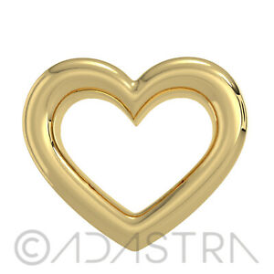 Heart Tooth Gem 18k Yellow Gold over 925 Sterling Silver Charm Teeth Jewelry
