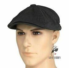 Mens Newsboy Cap 100% Cotton Quality One Size fits 57-59cm DARK GREY Sample Sale