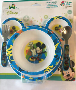 THE FIRST YEARS DISNEY MICKEY MOUSE 4 PC. FEEDING SET BRAND NEW