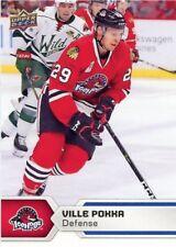 17/18 UPPER DECK AHL #19 VILLE POKKA ROCKFORD ICEHOGS *47767
