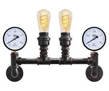 Vintage Industrial Rustic Double Waterpipe Wall Light Metal Gauge Lamp M0188