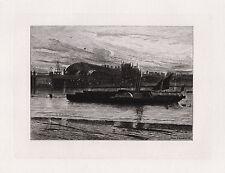 """Marvelous 1800s John INCHBOLD Historic Etching """"Charing Cross"""" Framed SIGNED COA"""