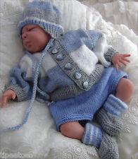 Baby Knitting Pattern DK TO KNIT Mikey Boys Cardigan Hat Shorts Booties Reborns