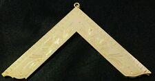 Freemason Masonic Worshipful Master Officer Collar Jewel in Gold Tone