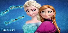 Birthday banner Personalized 4ft x 2 ft  Frozen, Disney, Anna and Elsa