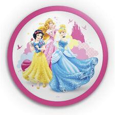 Philips Disney Princess LED Circular Bedroom Wall  Light in Pink Litecraft