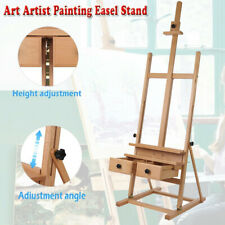Wooden Art Artist Painting Easel Stand With Adjustable Drawer And Canvas Holder