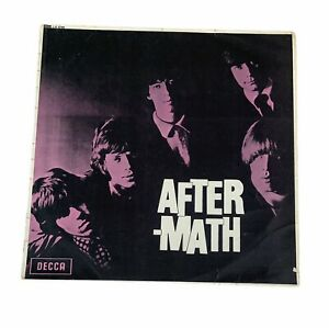 """Vintage ROLLING STONES Aftermath 1966 unboxed 12"""" vinyl red DECCA  LP record."""