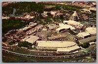 Postcard Anaheim CA c1968 Aerial View of Disneyland Amusement Park Matterhorn