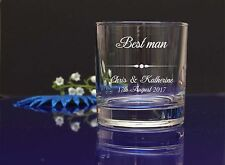 Personalized Best Man engraved whisky glass Wedding favor, present, gift 259