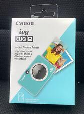 Canon - Ivy Cliq 2 Instant Film Camera CV-223-MTQ - Turquoise - BRAND NEW