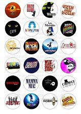 24 Musical Theatre Wafer / Rice Paper Cupcake Topper Edible Fairy Cake Toppers