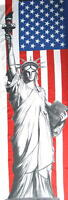 NEW YORK FLAGGE FAHNE FREIHEITSSTATUE STATUE OF LIBERTY 170x57cm FLAG POSTERFLAG