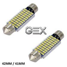 2pc 12V 42mm 41mm 30 LED Festoon Interior Car Light Bulb Bright White Lamp 6000k