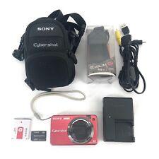 Sony Cyber-Shot DSC-W150 8.1mp Digital Camera Battery Charger Card AV Cable Bag