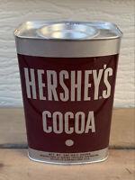 VTG HERSHEY'S COCOA Tin Can NO UPC 1/2 lb Recipes cake frosting fudge 1960s NICE
