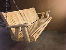 4Ft Pine Country Style Porch Swing handmade by Peach State Swings! Blowout Sale