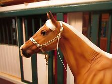 Jaapi Off-White & Gold Chevron halter w/lead-fit Breyer traditional model horses