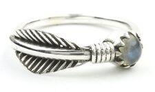Labradorite Feather Ring, Sterling Silver Labradorite Ring, Stone Jewelry