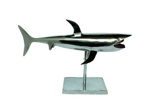 Decorative Large Shark on Base Fish Sculpture Figurine Christmas New Year