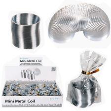 5 X Mini Slinky Resorte Juguete Retro De Bobina De Metal Regalo De Navidad Bouncing Elástico Relleno