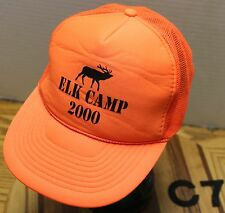 "BLAZE ORAGE ""ELK CAMP 2000"" TRUCKERS HAT SNAPBACK MESH BACK VERY GOOD COND C7"