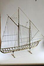 Mid-Century Modern Curtis Jere Metal 3D Op Art Sailboat Table Sculpture 1976