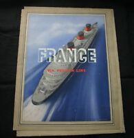CGT FRENCH LINE SS NORMANDIE Souvenir Menu Folder