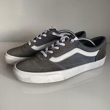 Vans Old Skool Pro Skate Shoes UK 9 Grey And White