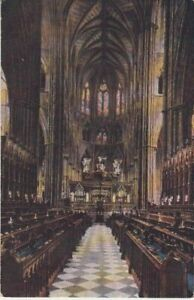 UK - Westminster Abbey (Interior) (Postcard) 1930's