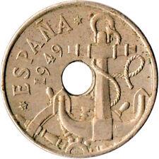COIN / SPAIN / 50 CENTIMOS 1949  #WT1266