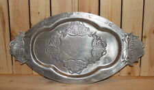 Vintage ornate floral metal serving tray