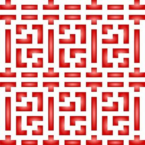 Chinese Lattice Stencil Reusable Oriental Asian Trellis Allover Pattern Template