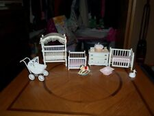 White Miniatures Nursery Baby Room Furniture and Misc. Accessories